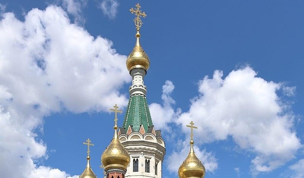Torens van de Russisch-Orthoxode kathedraal in Wenen.  (beeld wikipedia)