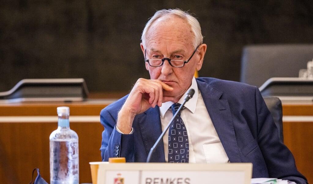 Johan Remkes als waarnemend gouverneur van Limburg tijdens de recente Provinciale Statenvergadering over een rapport over subsidiestromen van de provincie naar de omstreden landschapsinstelling IKL.  (beeld anp / Marcel van Hoorn)