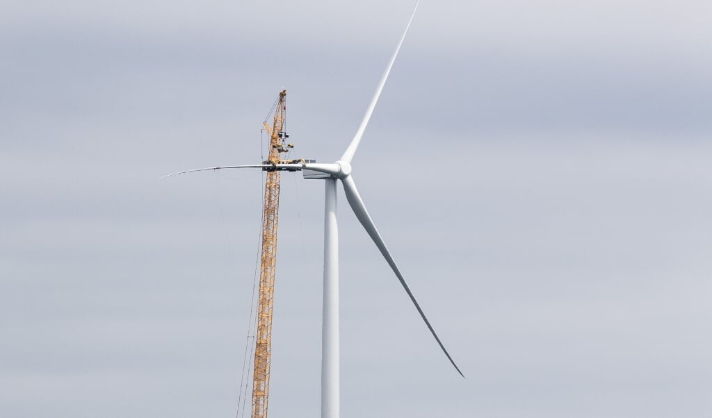 Een windmolen in Eerste Exloërmond.  (beeld anp / Vincent Jannink)