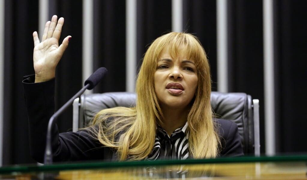 Flordelis dos Santos de Souza tijdens haar beëdiging als parlementslid in 2019.  (afp / Michel Jesus)