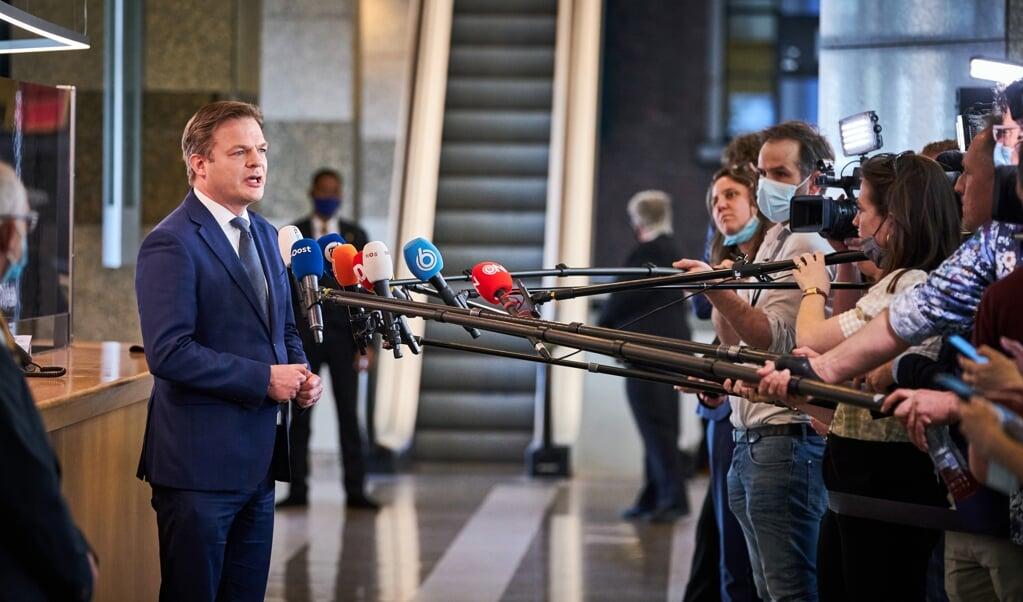 Pieter Omtzigt staat eind maart de pers te woord.  (beeld anp / Phil Nijhuis)