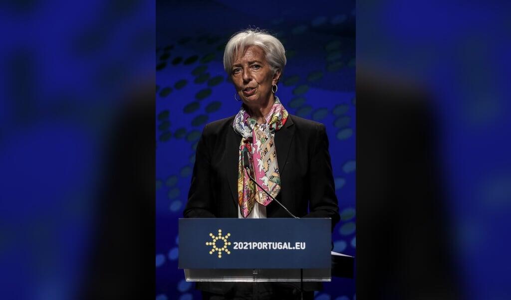 Christine Lagarde  (beeld afp / Carlos Costa)