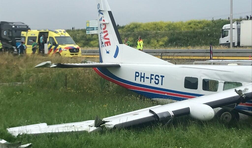 Piloot Swellengrebel: 'Ik had maar één doel: het toestel veilig neerzetten.'  (beeld Gerard ten Voorde)
