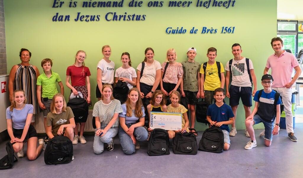 Leerlingen van CSG Guido.  (beeld csg guido)