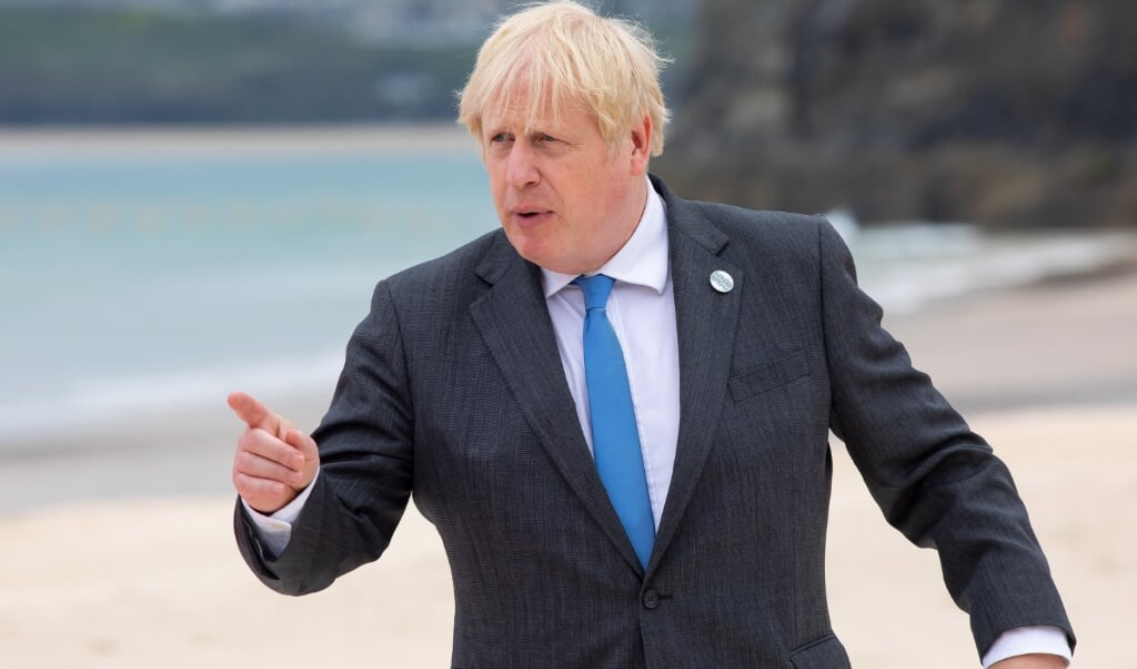 Britse premier Boris Johnson  (beeld afp / Jonny Weeks)