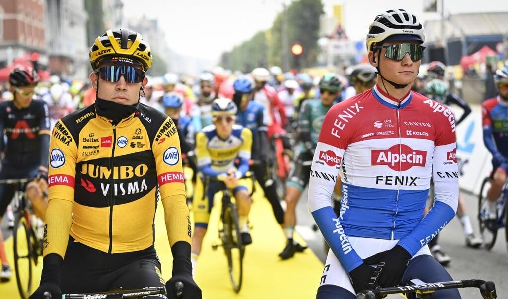 Wout van Aert en Mathieu van der Poel.  (beeld belga photo / Dirk Waem)