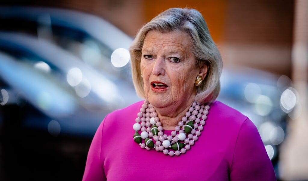 Demissionair staatssecretaris Ankie Broekers van Justitie en Veiligheid  (beeld anp / Bart Maat)