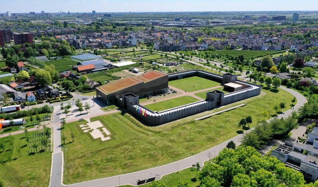 Castellum Hoge Woerd, een reconstructie van een Romeins fort in de gemeente Utrecht. Vanuit dit fort bewaakten ruim 2000 jaar geleden Romeinse soldaten de Rijn.  (beeld Provincie Zuid-Holland)