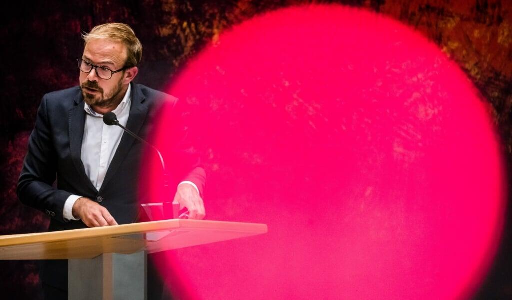 PvdA-Tweede Kamerlid Gijs van Dijk. 'Armoede laat littekens achter die deze kinderen de rest van hun leven met zich meedragen.'  (beeld anp / Bart Maat)