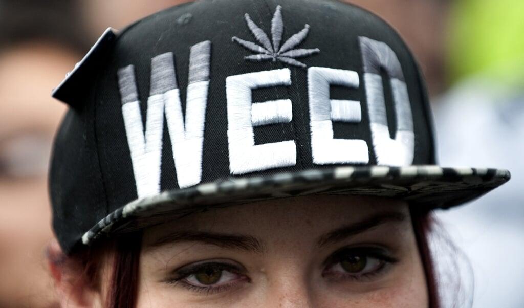 Viering van de legalisatie van marihuana in Denver, Colorado.  (beeld afp / Jason Connolly)