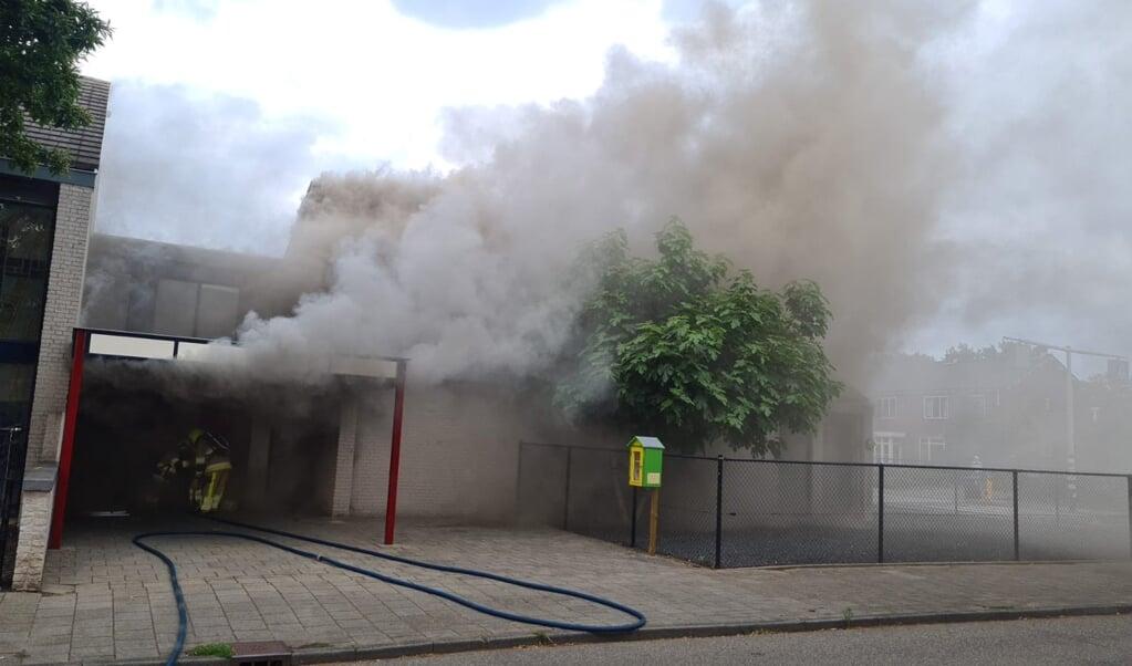 Brand in de Kerk van de Nazarener in Nijmegen.  (beeld Kerk van de Nazarener)