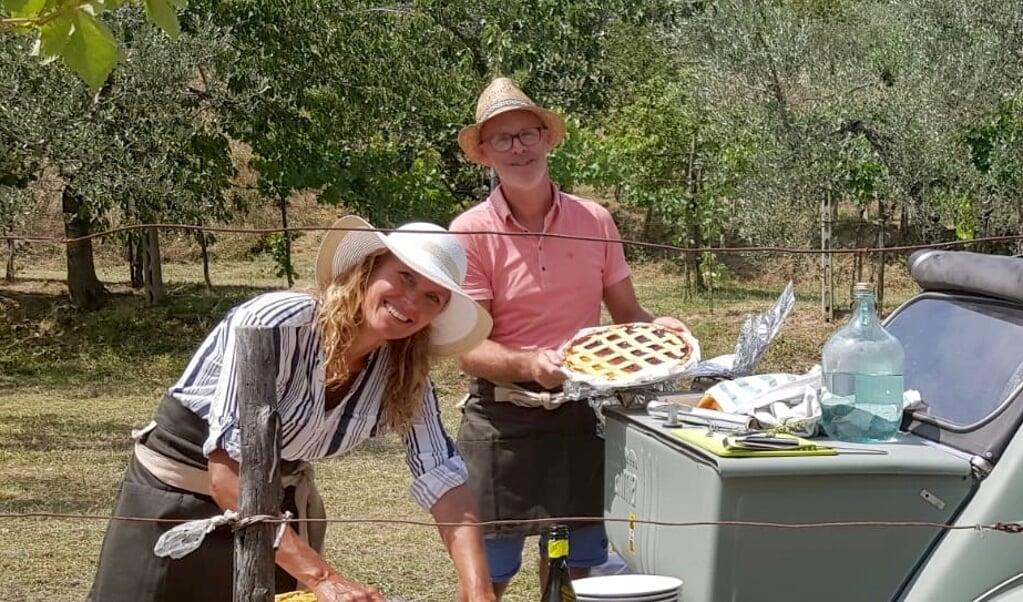 Jolanda en Johannes laten hun gasten drie keer per week mee-eten.  (beeld privébezit)