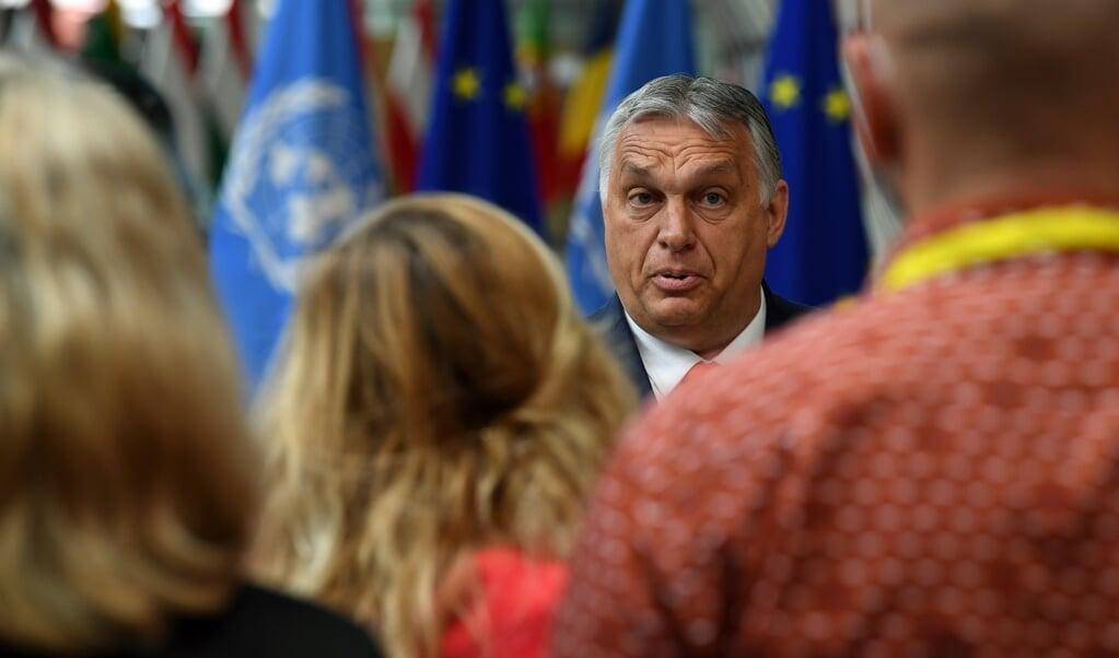 De Hongaarse regering-Orbán ontkent, maar er zijn vele aanwijzingen dat zij spionagesoftware Pegasus inzet tegen journalisten.  (beeld epa / John Thys)