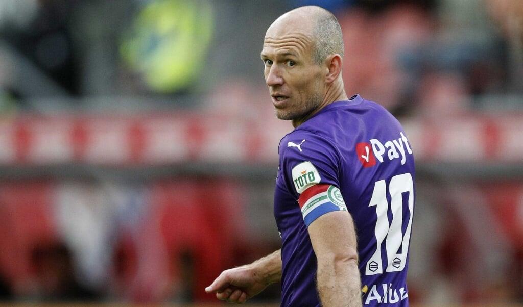 Robben had 'iets moois voor ogen'.  (beeld epa)