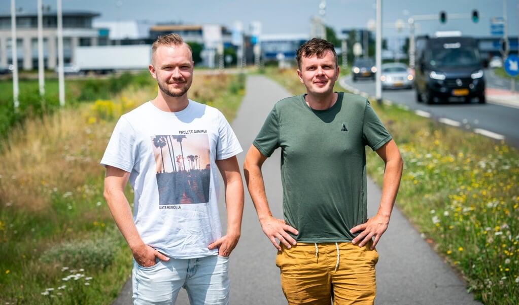 Daniel van Deutekom (links) en Jack Schreudering.  (beeld Jeroen Jumelet)