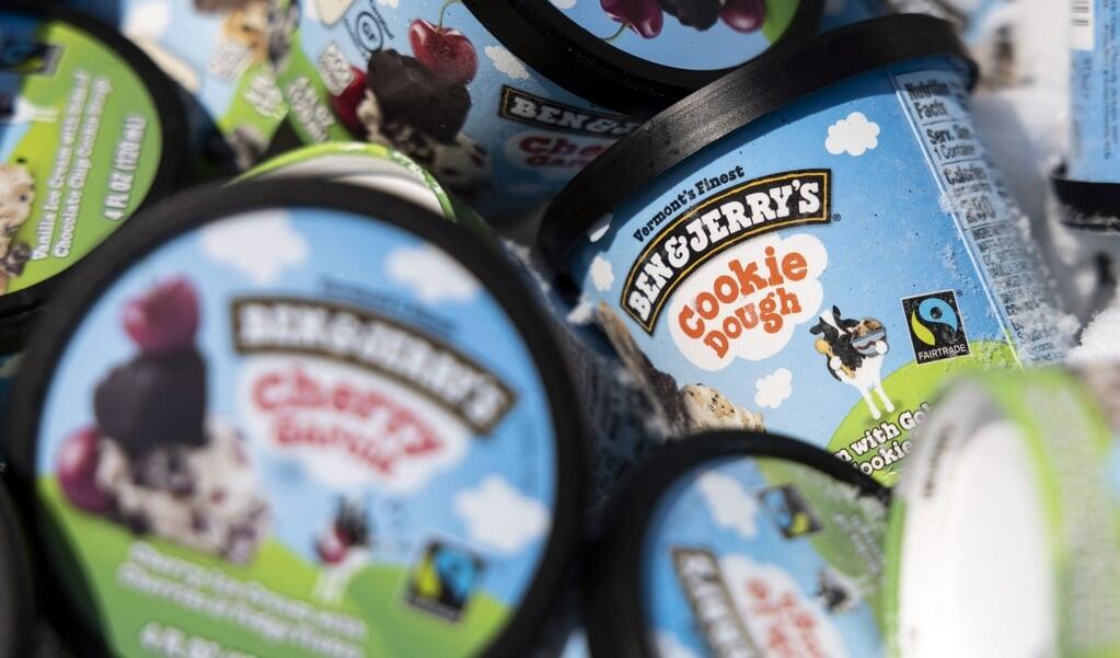 Het verkopen van ijs in deze gebieden zou niet in lijn zijn met de waarden van Ben & Jerry's.  (beeld afp / Kevin Dietsch)