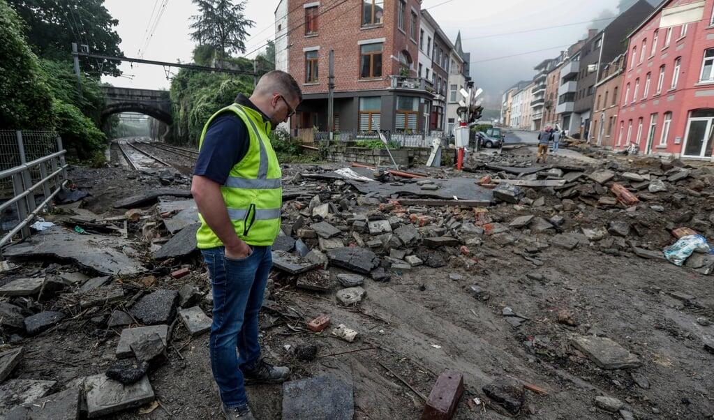 Op veel plaatsen waren deze maand zware overstromingen, zoals hier in Dinant in België, maar ook in Duitsland, Nederland, Londen en China.  (beeld epa / Stephanie Lecocq)