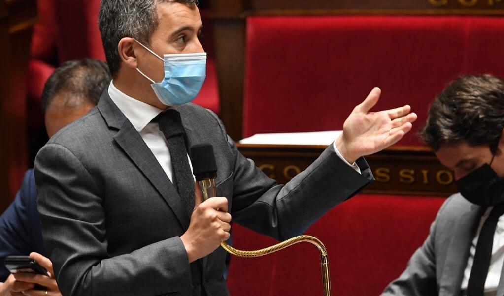 Gerald Darmanin, de Franse minister die evangelische christenen 'problematisch' noemde.   (beeld Alain Jocard / afp)