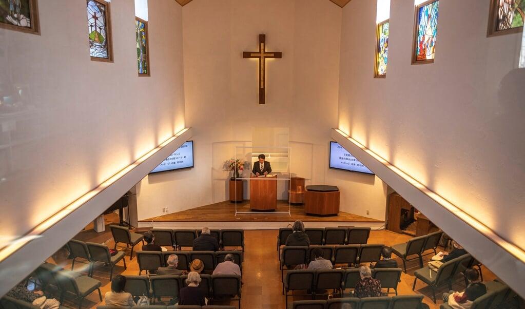 Christelijke gemeenschappen in Japan zijn vaak niet zo groot, zoals deze kerk in Fukushima.   (beeld Philip Fong / afp)