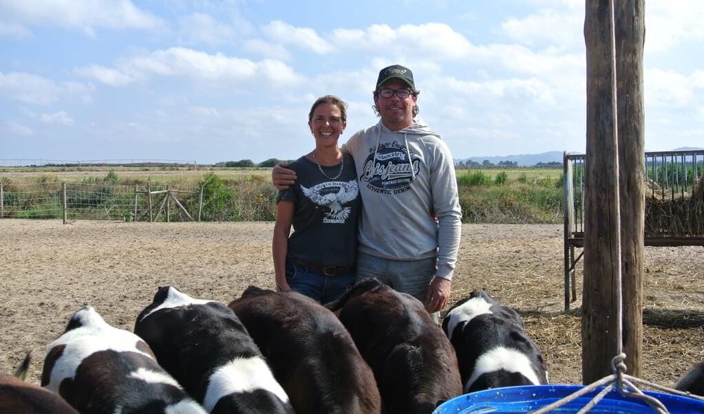 Martine en Frans: 'We zochten voor ons bedrijf de beste plek voor onze dieren.'  (beeld Nadine Folkers)