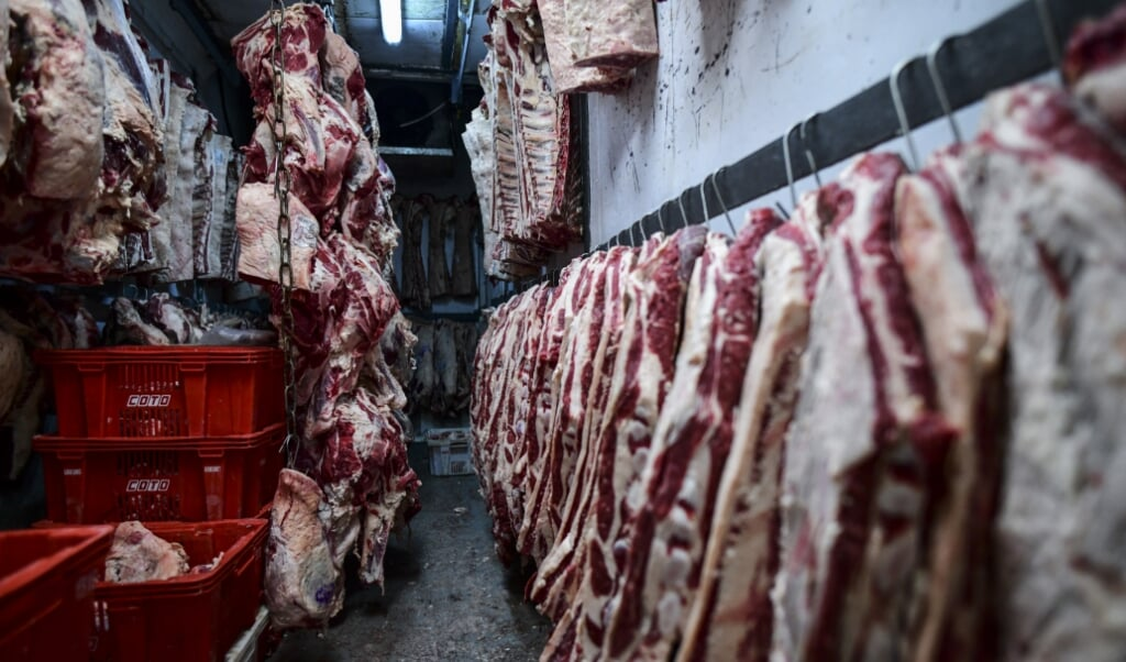 Een vleestaks kan helpen de menselijke maat terug te brengen in het slachthuis.  (beeld Ronaldo Schemidt / afp)