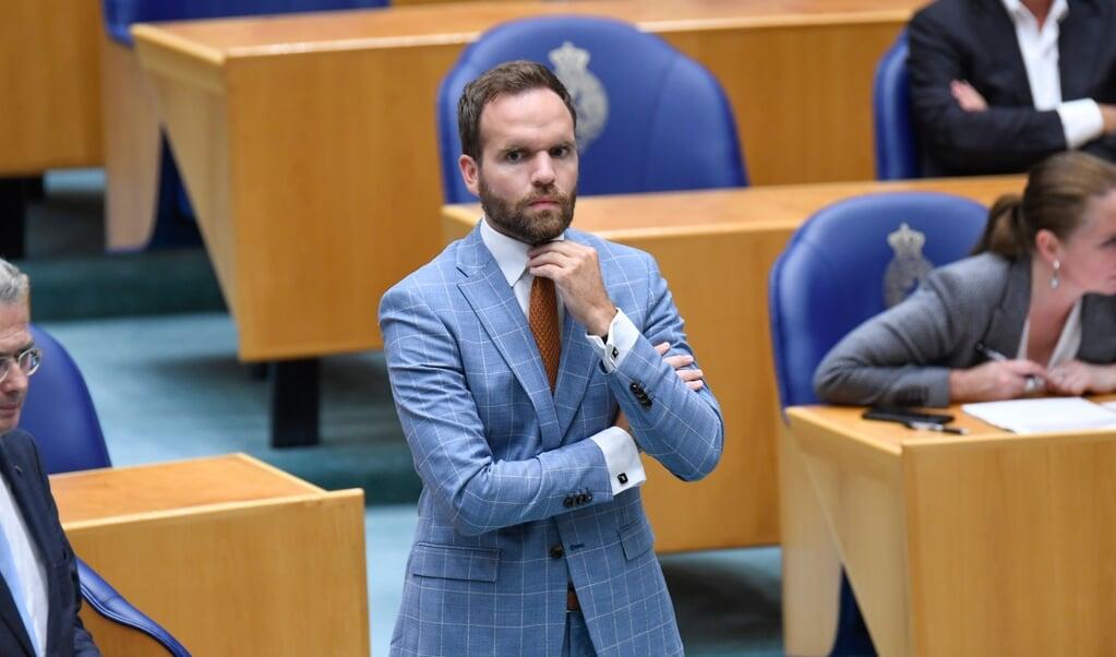Derk Boswijk tijdens een debat in de Tweede Kamer.  (beeld anp / Peter Hilz)