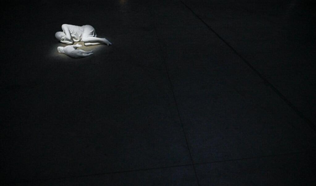 Breath, 2021 van Maurizio Cattelan  (beeld afp / Piero Cruciatti)