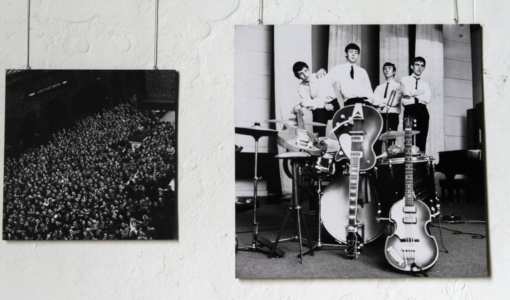 Een foto van Eddy Posthuma de Boer (The Beatles) op een expositie in 2014.  (beeld anp)