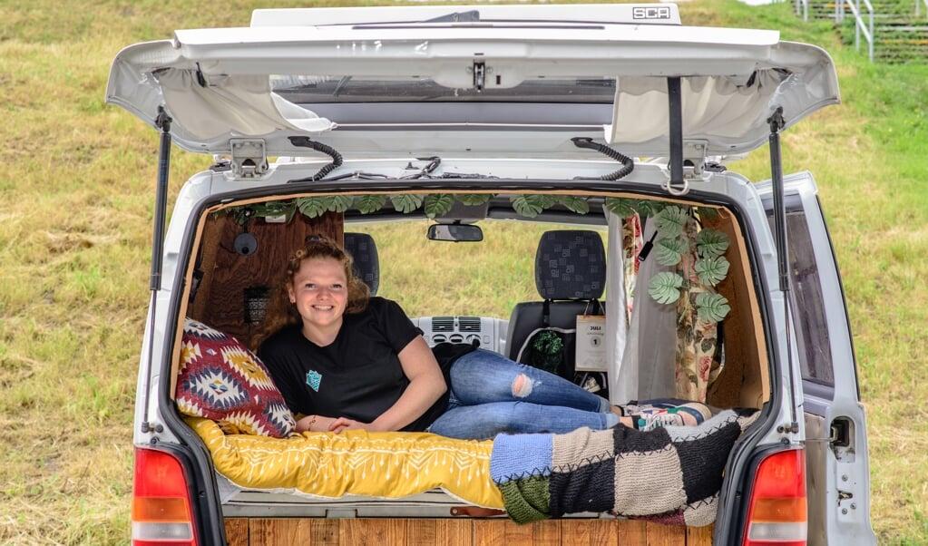 Nog deze maand vertrekt Silke voor een trip door Duitsland, Slovenië en Kroatië.  (beeld Passievoortekstenfoto.nl)