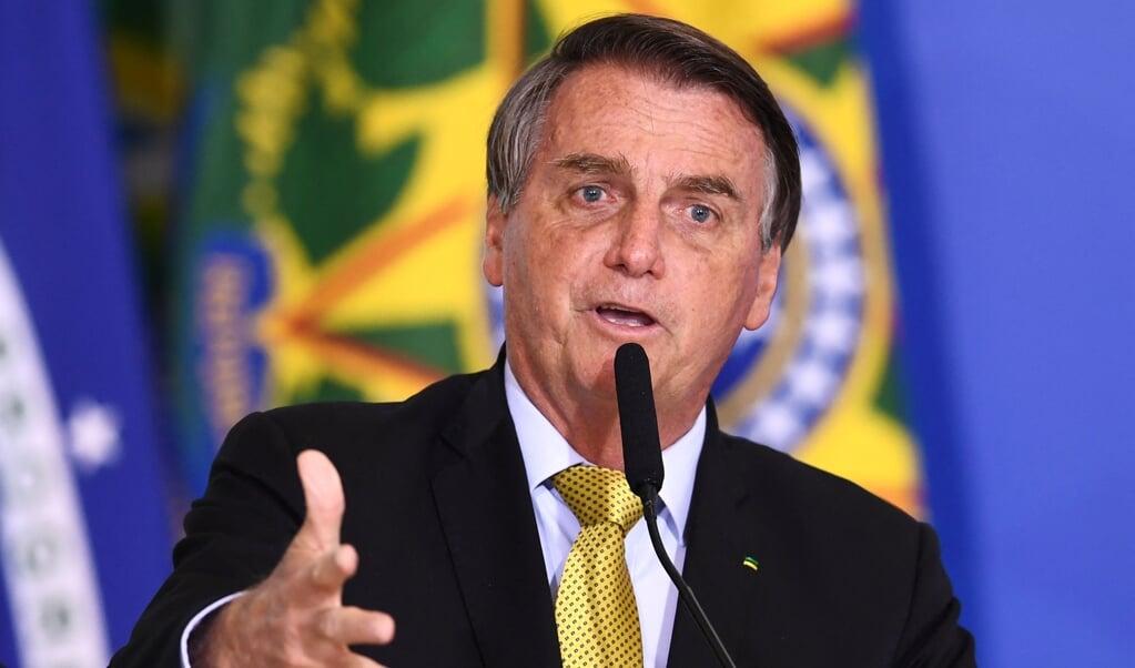 President Jair Bolsonaro  (beeld afp / Evaristo Sa)