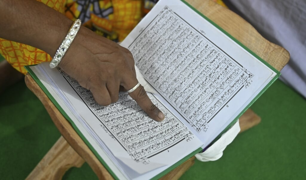 De studente deelde een parodie op de Koran. In Marokko is dat verboden.  (beeld Munir uz Zaman / afp)