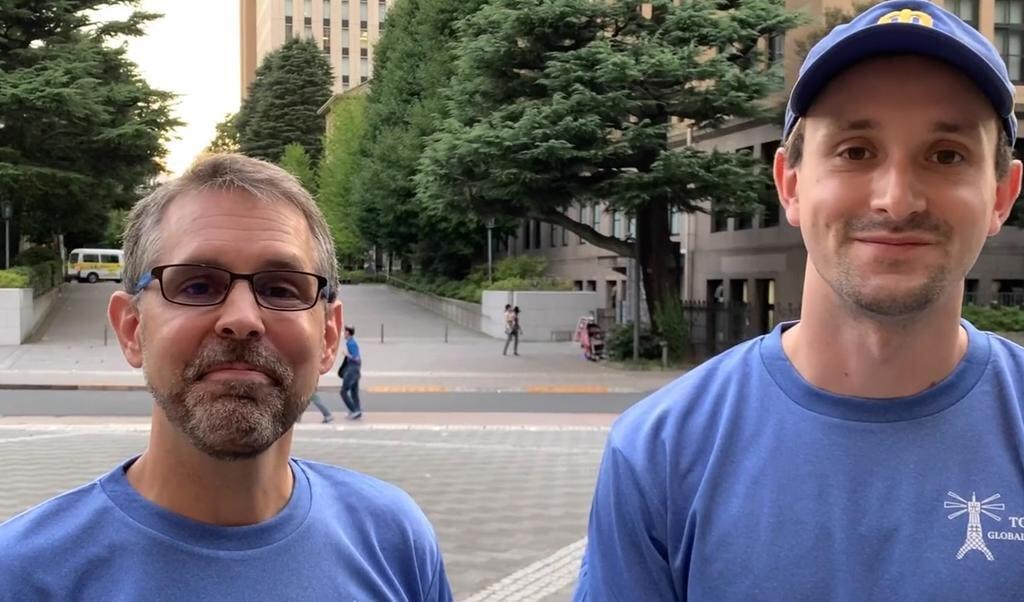 Evangelisten praten met studenten in Tokio.  (beeld nd)