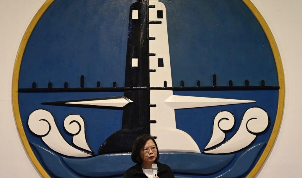 De afwerende houding van de Taiwanese president, Tsai Ing-wen, zorgt voor nervositeit bij China, dat niets liever wil dan Taiwan met China verenigen.  (beeld Sam Yeh / afp)