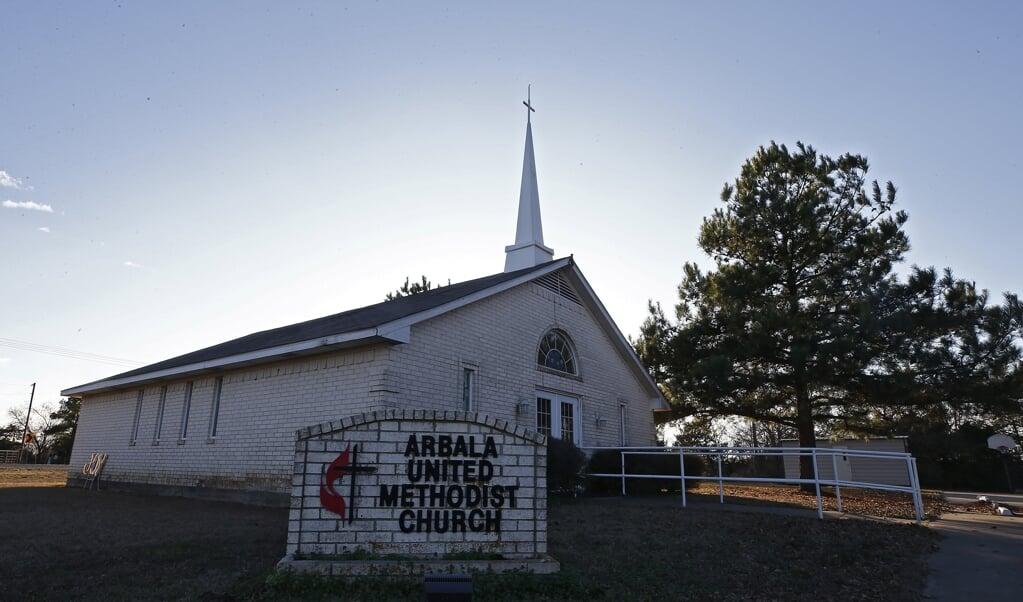 Een methodistische kerk in Texas.  (beeld epa / Larry W. Smith)