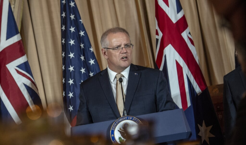 Premier Scott Morrison.    (beeld afp / Eric Baradat)