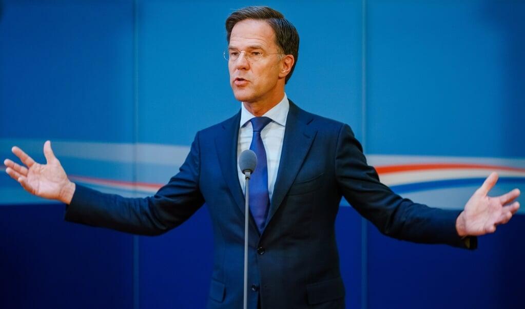 Demissionair premier Mark Rutte   (beeld anp / Marco de Swart)