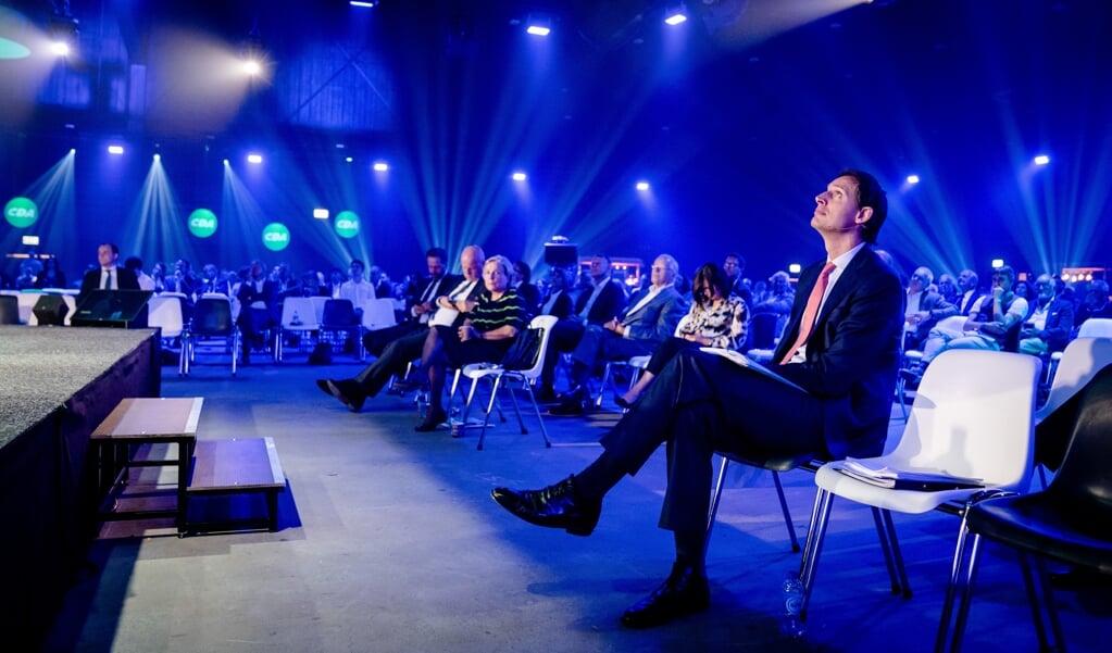 CDA-leider Wopke Hoekstra op het partijcongres.   (beeld anp / Bart Maat)
