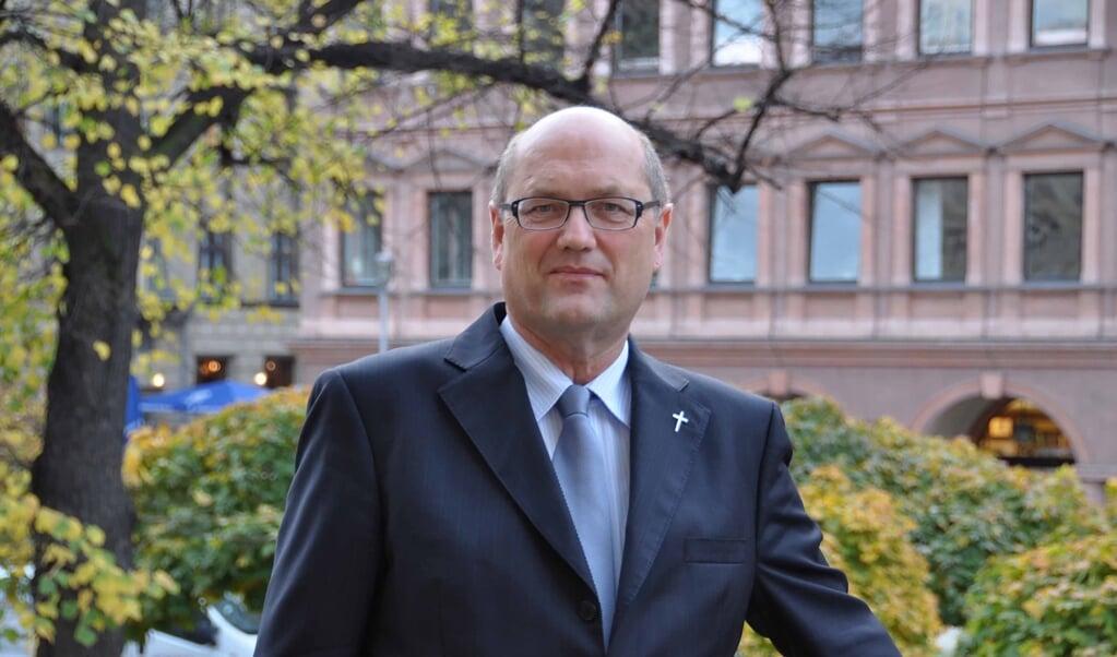 Martin Dutzmann, contactpersoon vanuit de Evangelische Kirche voor de Duitse en Europese politiek.  (beeld pro / Anna Lutz)