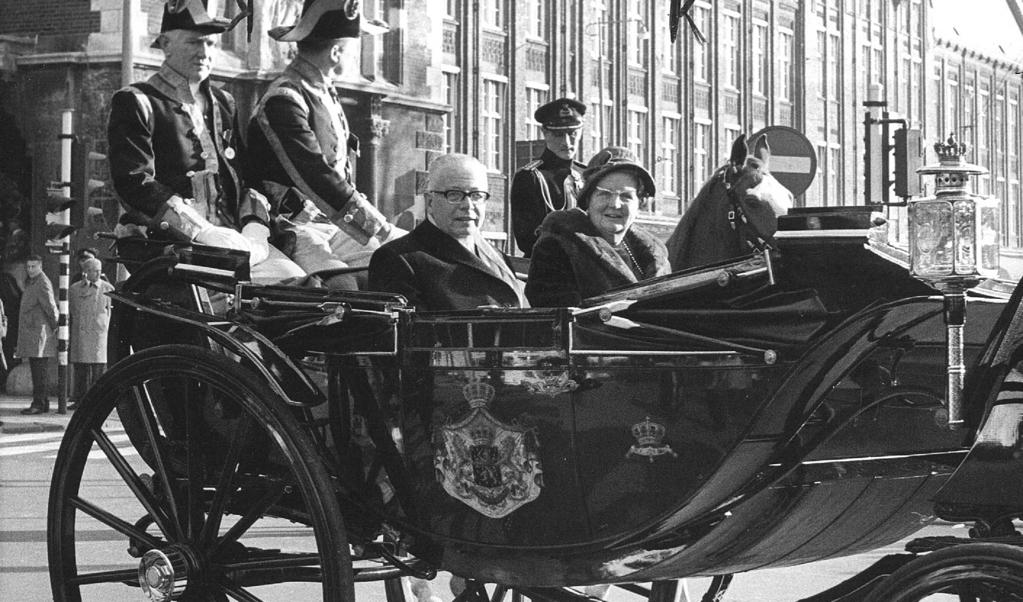 De West-Duitse Heinemann op staatsbezoek in Nederland, november 1969.  (beeld  anp)