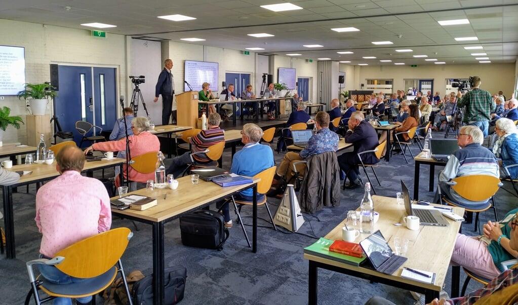 De synode/landelijke vergadering, vrijdag bijeen in Elspeet.  (beeld nd)