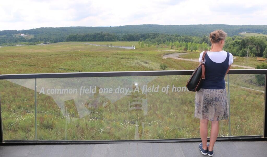 Vlucht 93 crasht op 11 september 2001 in een open veld bij Shanksville in de Amerikaanse staat Pennsylvania. Een monument herinnert eraan.  (beeld Riekelt Pasterkamp)