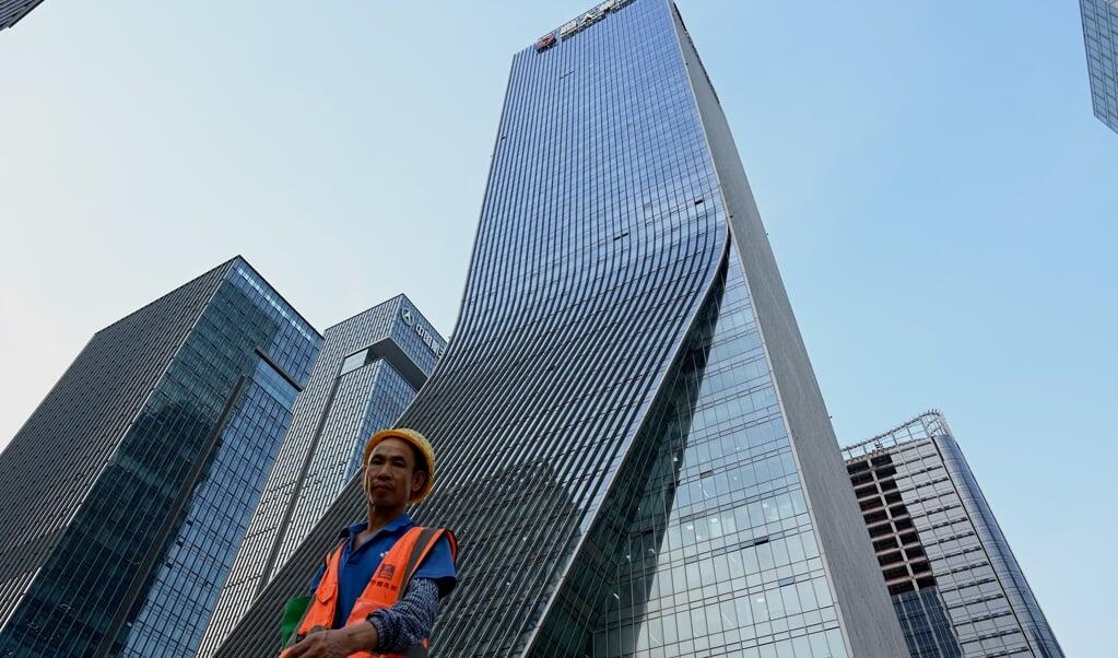 Het hoofdkantoor van Evergrande in Shenzhen.  (beeld afp / Noel Celis)