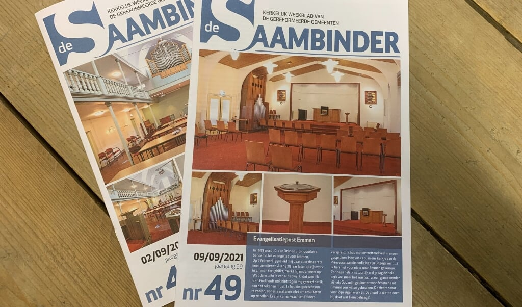 In kerkblad de Saambinder staat een advertentie die strafbaar is.  (beeld ND)