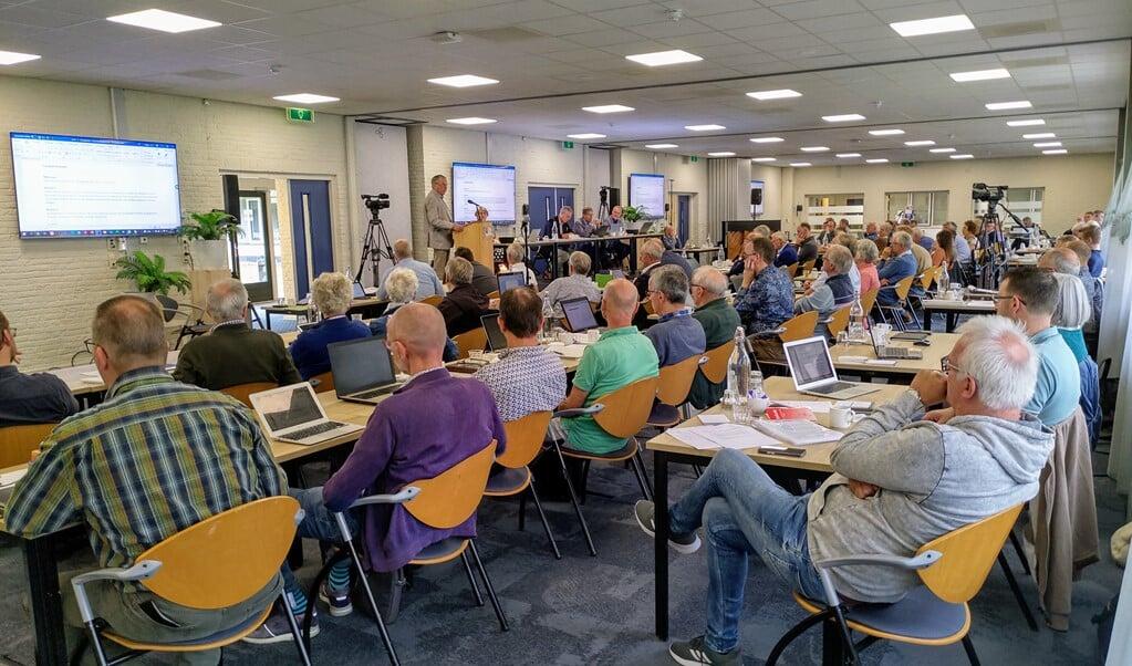 De synode/landelijke vergadering, zaterdag in Elspeet.  (beeld nd)