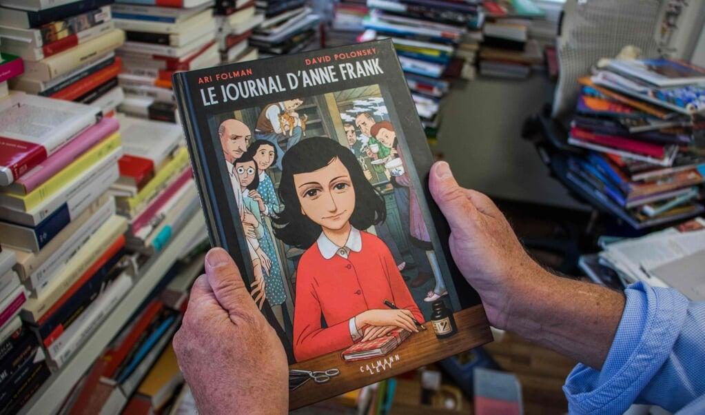 De Israëliërs Ari Folman en David Polonsky maakten van het dagboek van Anne Frank een graphic novel.  (beeld / afp)