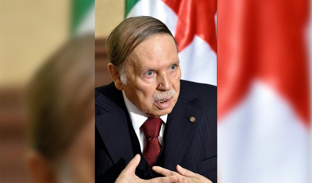 Abdelaziz Bouteflika in 2016.  (beeld afp / Eric Feferberg)