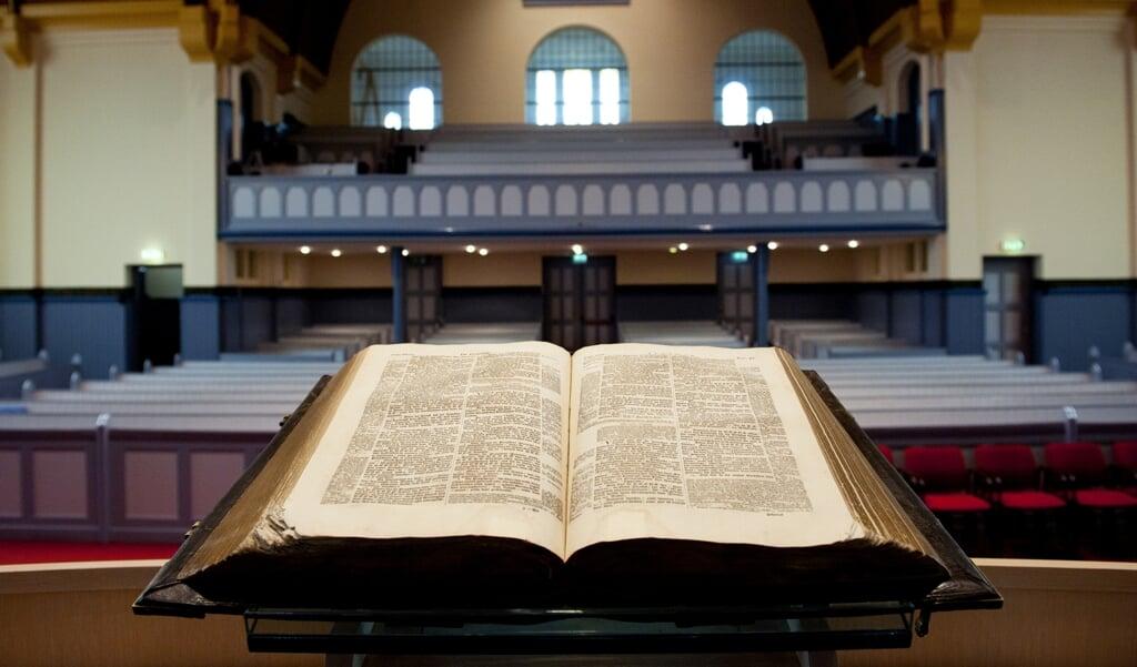 Ik ga voor diversiteit. Zo nodig ik de pastoor van de plaatselijke parochie uit om voor te gaan. Hij heeft geen preekbevoegdheid in onze kerk, maar wel een boodschap die hier verstaan wordt.  (beeld anp Xtra / Roos Koole)