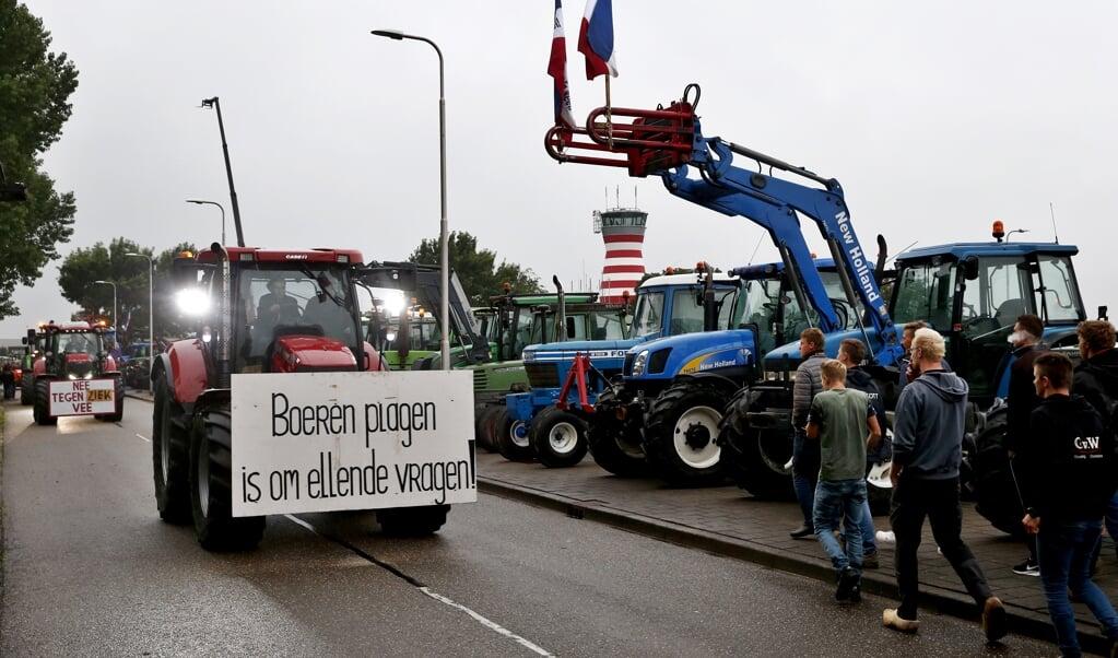 Een boerenprotest in juli vorig jaar.  (beeld anp / Vincent Jannink)