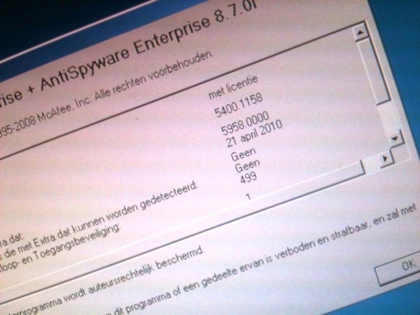 PCs onbruikbaar door fout McAfee