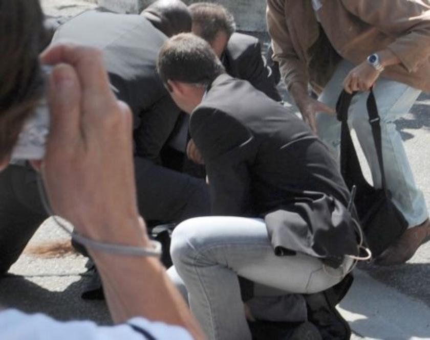 Sarkozy aangevallen door man